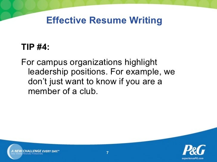 resume writing 7 effective