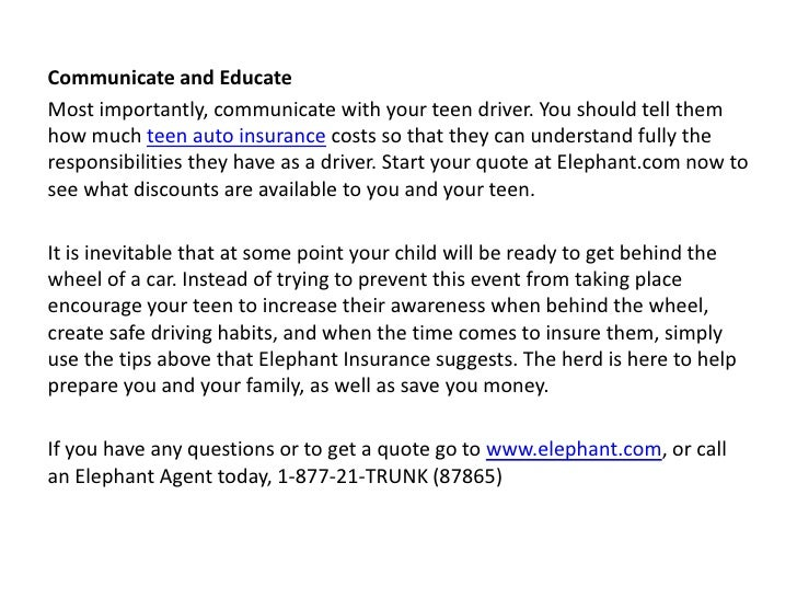 Elephant Auto Insurance Quote Custom Elephant Auto Insurance Shares The Top 5 Tips For Saving Money On You…