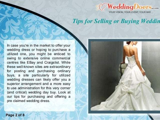 Tips for Selling or Buying Wedding Dresses