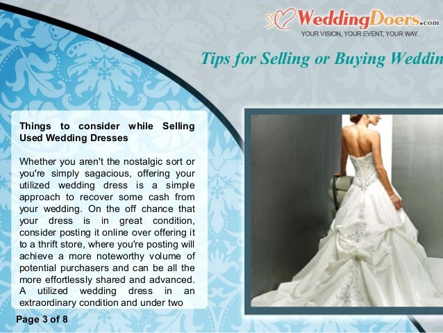 Buying and selling wedding dresses wedding dresses asian for Want to sell my wedding dress