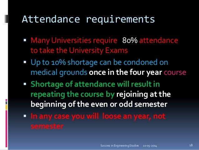 attendance shortage