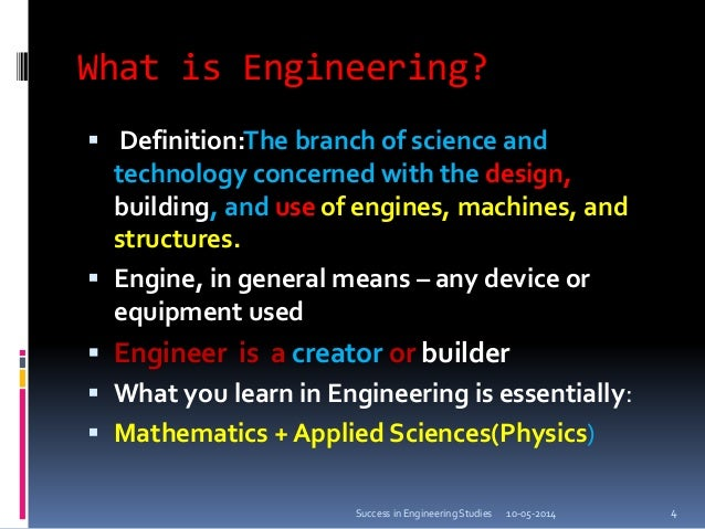 Tips For Success At Engineering Studies A Talk To The