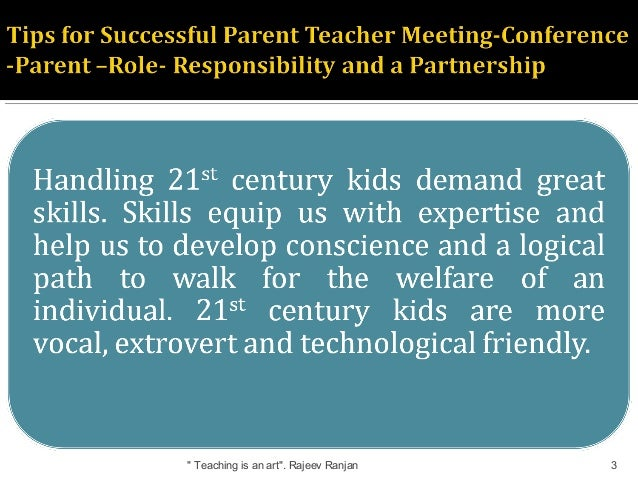 Tips for successful parent teacher meeting- conference ...