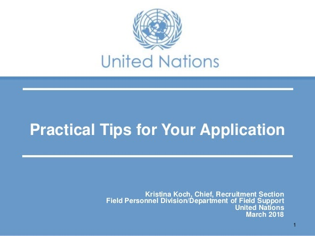 Tips for preparing for the UN Peace Operations recruitment process