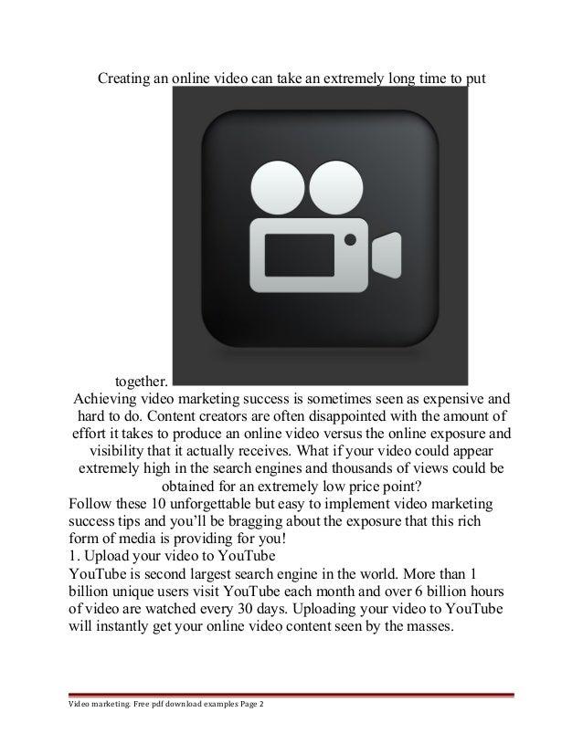 Tips for video marketing Slide 2
