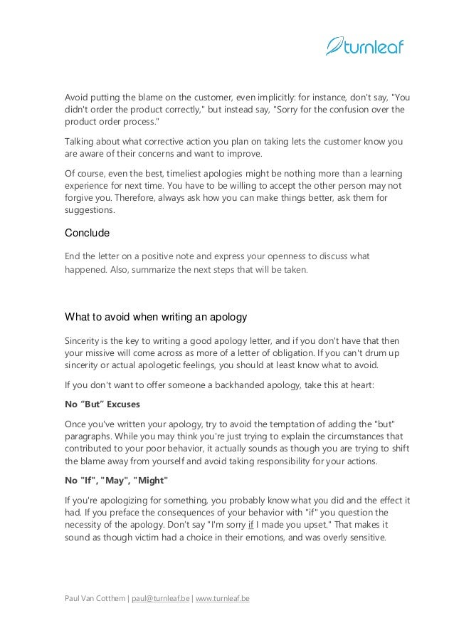 Sample Business Apology Letter Apology Letter Sample Sample – Example of Apology Letter to Customer