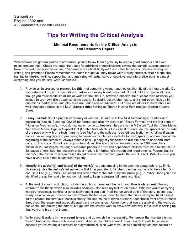 Essay and speech cons