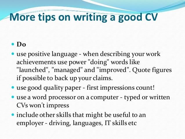cv writing tips - Resume Writing Tip