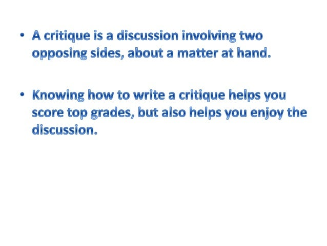 Essay Help: Tips for writing a good critique paper