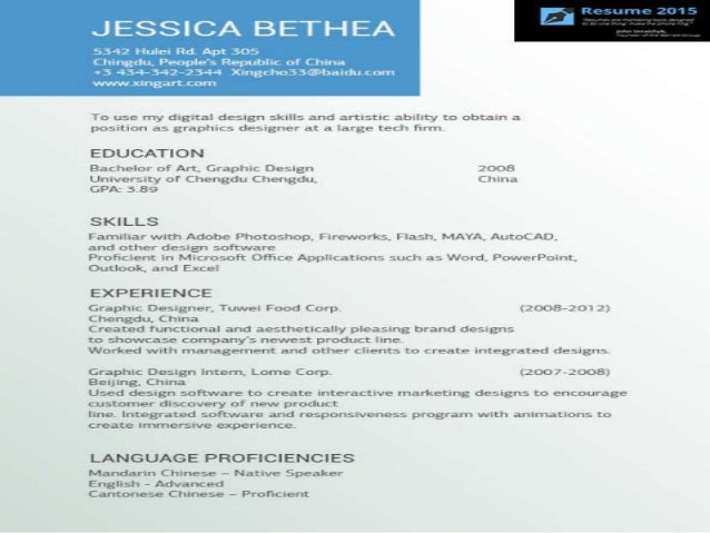 Tips for writing a resume template 2015