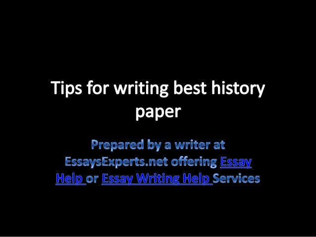 Help writing an essay history