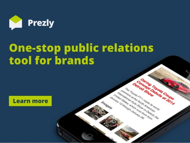 One-stoppublicrelations toolforbrands Learnmore