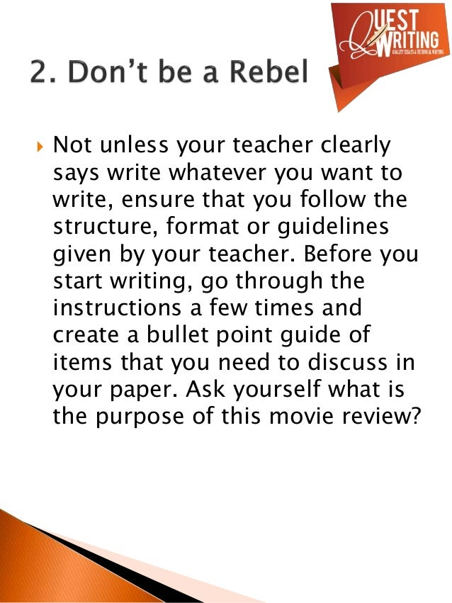how to write a review on a movie Most people prefer to read the review of a film before actually going to watch it to know if the movie is worth watching if you want to pursue review writing as a profession or even as a pass time, it is essential for you to understand the basics of this profession.
