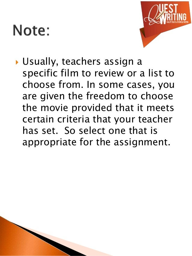 write a movie review assignment