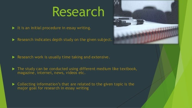 research essay powerpoint How to write a research report and give a presentation a darwish things to remember when starting a presentation • start with something to get your audience's attention.