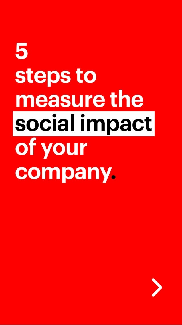 5 steps to measure the social impact of your company