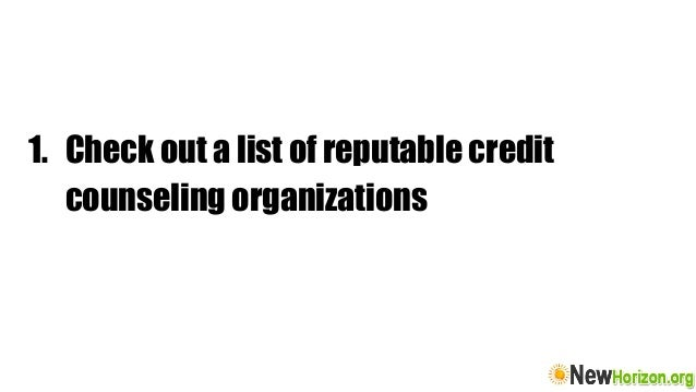 tips in choosing a legitimate credit counseling agency