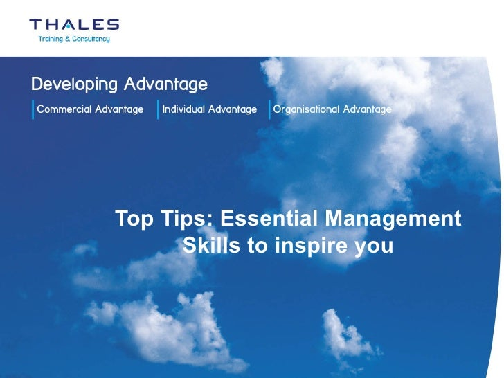 Top Tips: Essential Management Skills to inspire you