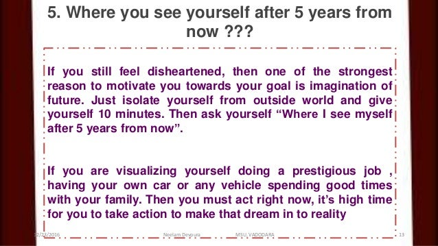 where do you see yourself 10 years from now