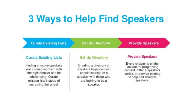 Tips on Building a Speakers Bureau for Chapters