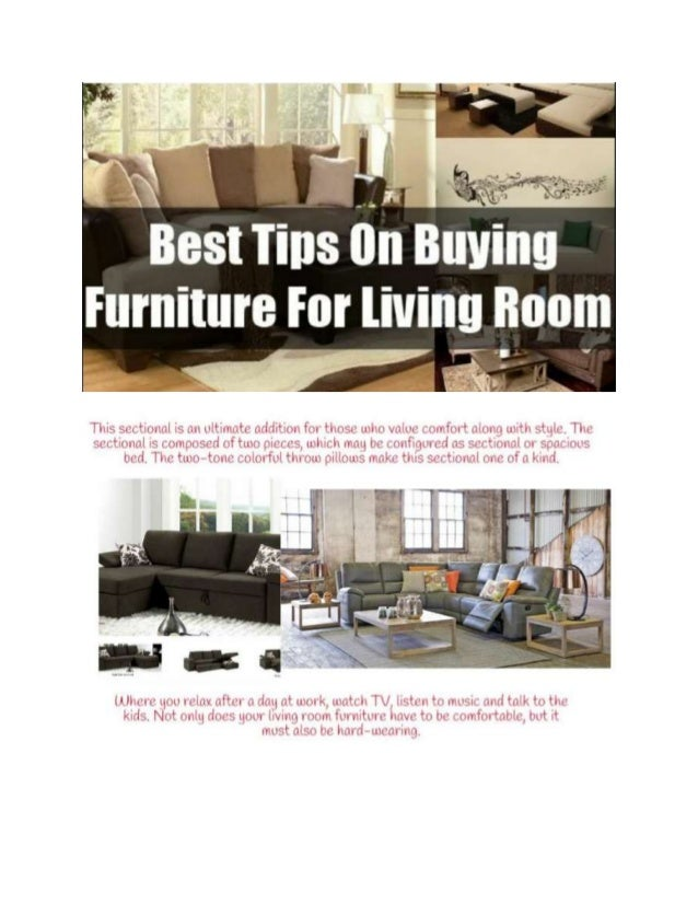 Tips on buying living room furniture