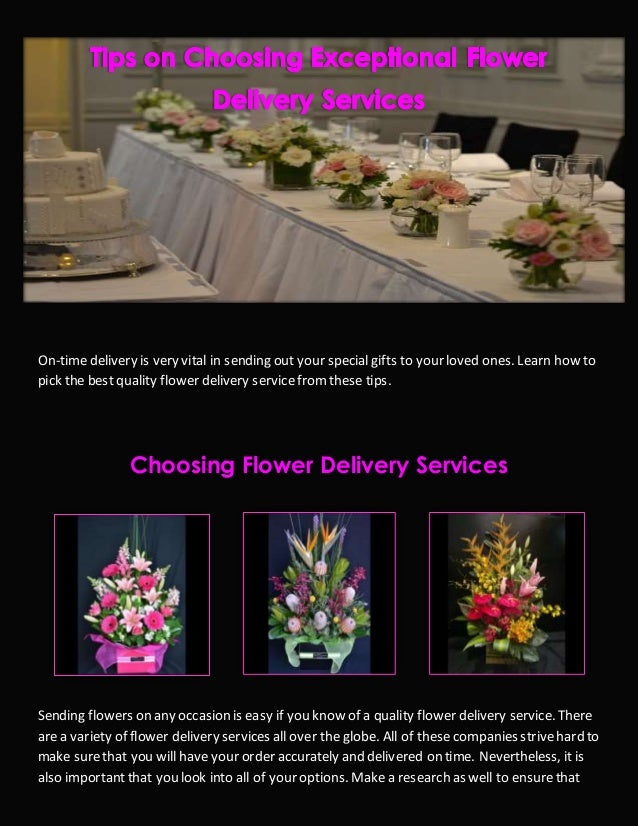 Tips On Choosing Exceptional Flower Delivery Services