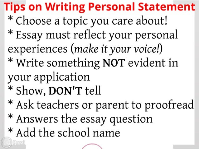 How to Write the Perfect Personal Statement  Write powerful essays     The Advanced Edit