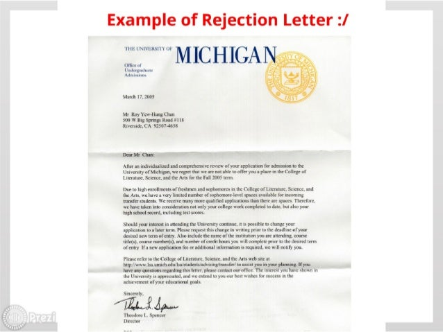 Tips on the college admission and application process for high school 28 exa nple of rejection spiritdancerdesigns Images
