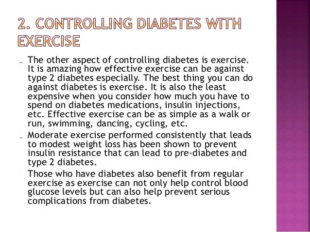 How to Control Diabetes Without Medicine
