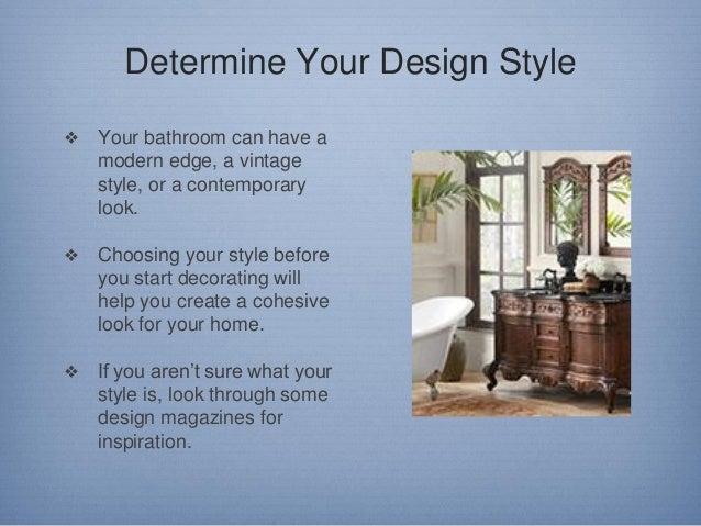 Tips on Designing a Bathroom Slide 2