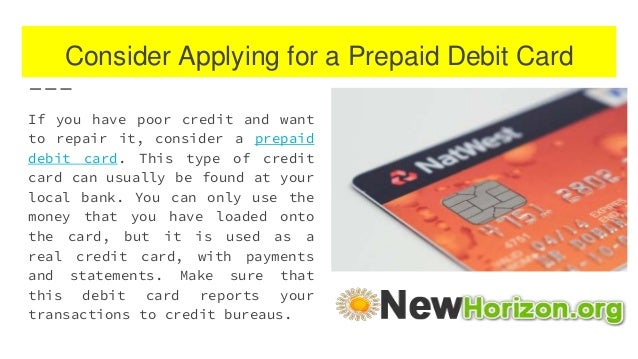 Can You Build Credit With A Prepaid Credit Card