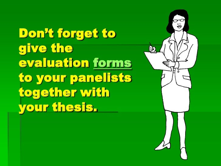How do you defend a thesis