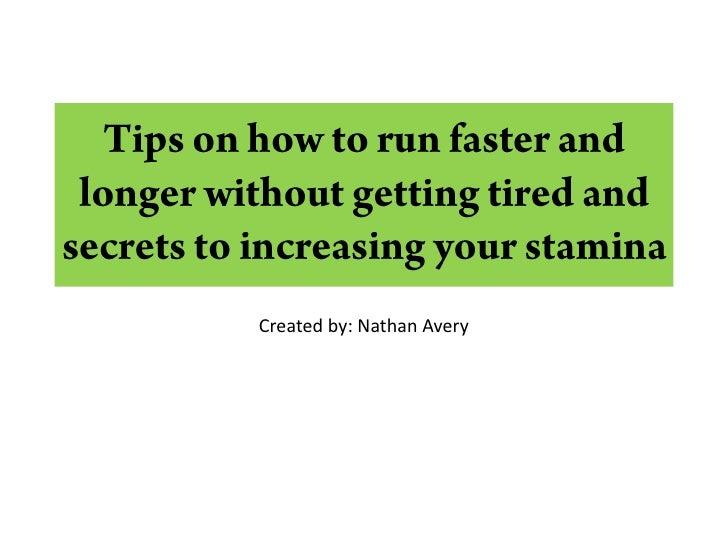 Quickest way to increase stamina