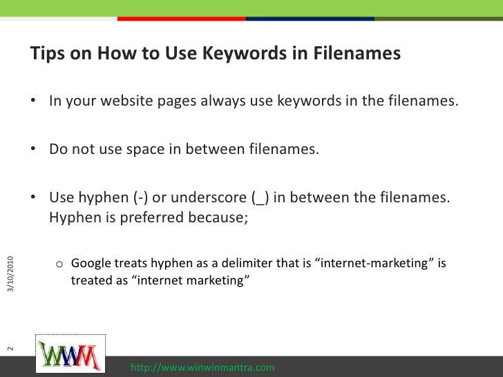2 tips on how to use keywords