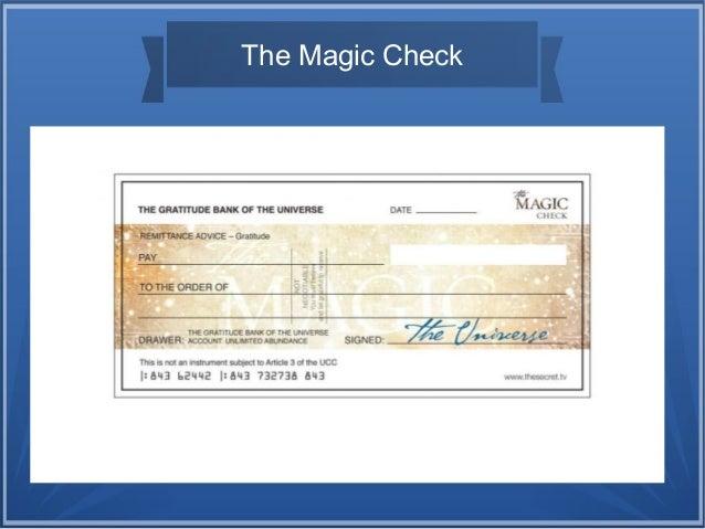 Secret richtig ausfüllen scheck the Scheck