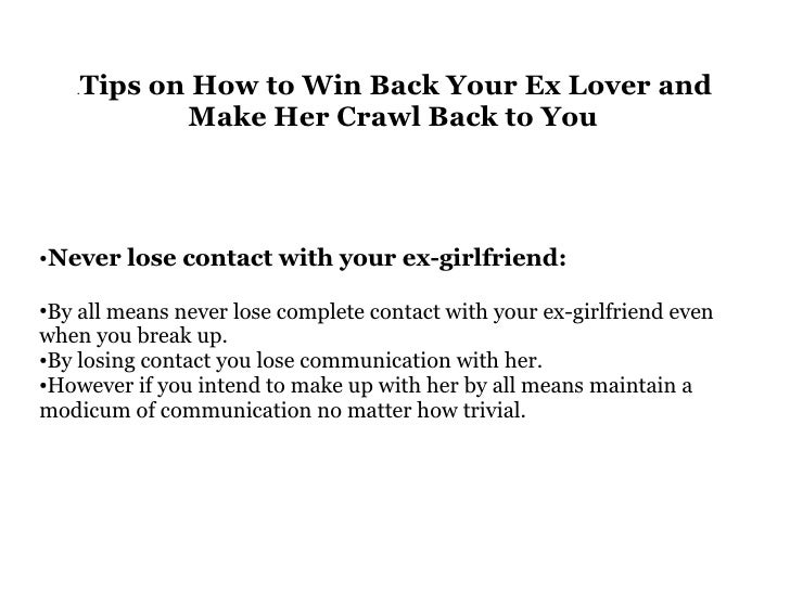 relationship advice how to win back your ex