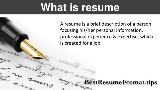 Tips On How To Write A Successful Resume BestResumeFormat.tips; 2.
