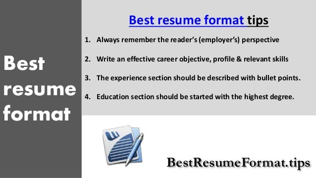 bestresumeformattips 3 best resume how to write a successful resume