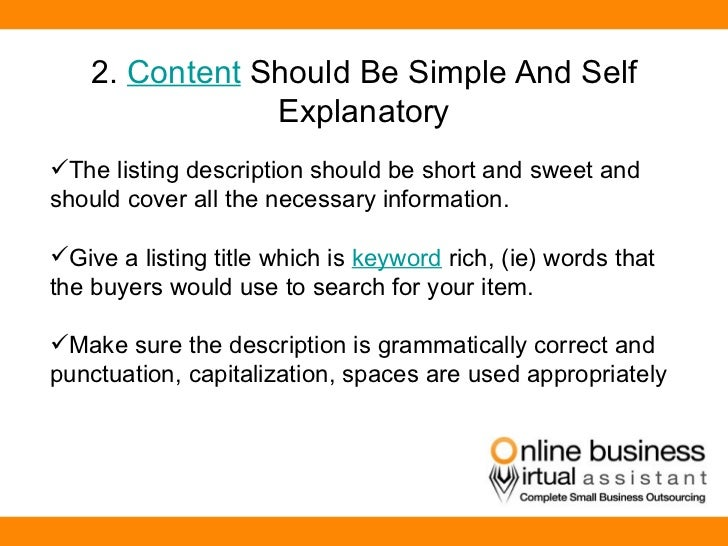 Tips on How to Write Effective Listings in Amazon Business By OBVA – Simple Listing Words
