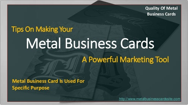 Tips on making your metal business card a powerful marketing tool quality of metal business cards tips on making your metal business cards a powerful marketing tool colourmoves