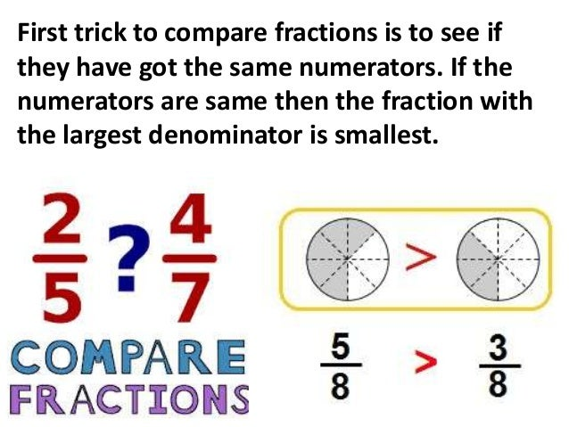 Tips On Ordering and Comparing Fractions