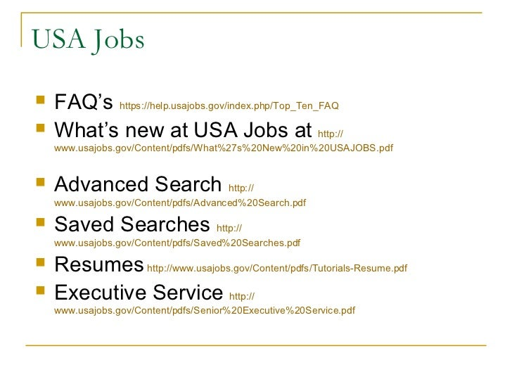 tips on the federal job process