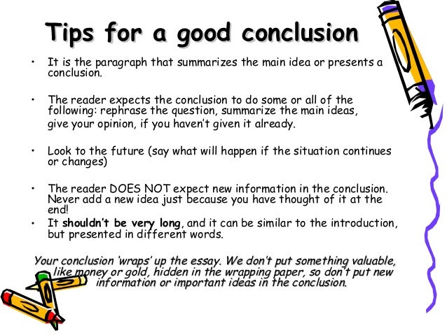 Tips for writing a good essay