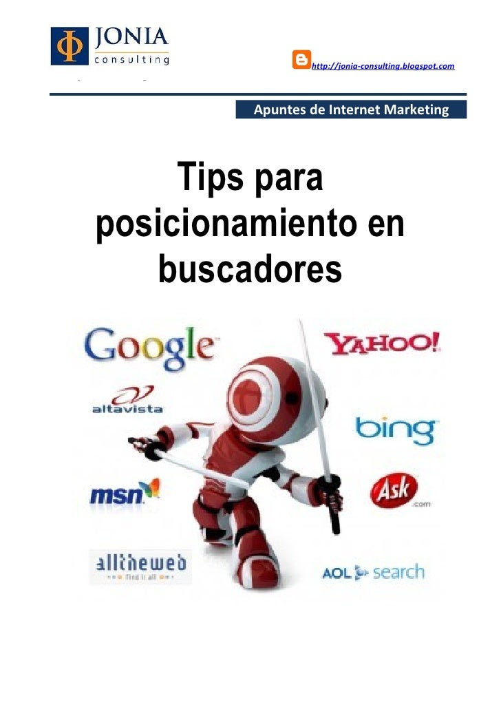 http://jonia-consulting.blogspot.comwww.joniaconsulting.com                          Apuntes de Internet Marketing        ...