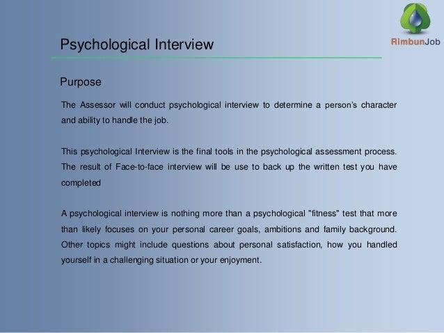 Tips On Handling Psychological Assessment