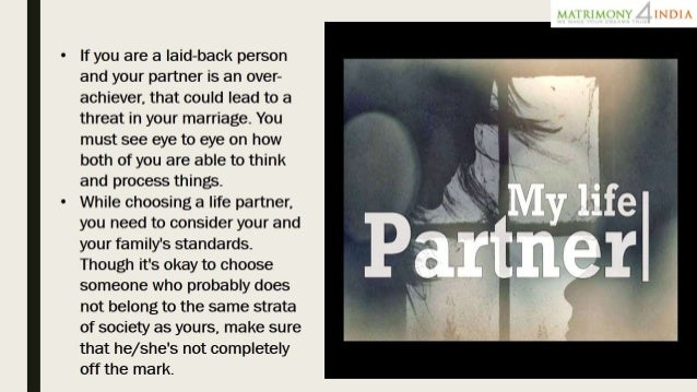 how to find the right partner in life