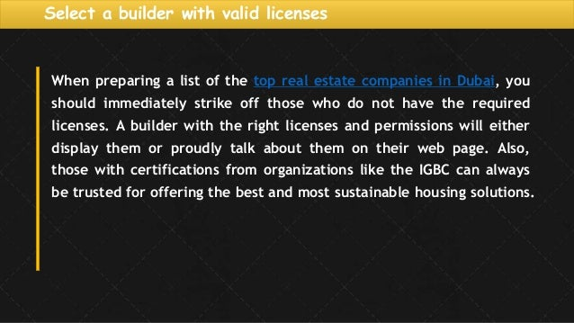 list of property developers