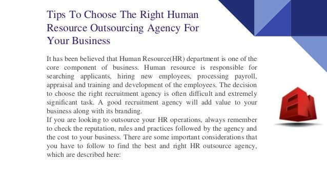 the importance of outsourcing and human resources in a business Ethical challenges in human resources tell you about the importance of assessing was through domestic outsourcing or selling off divisions and then.