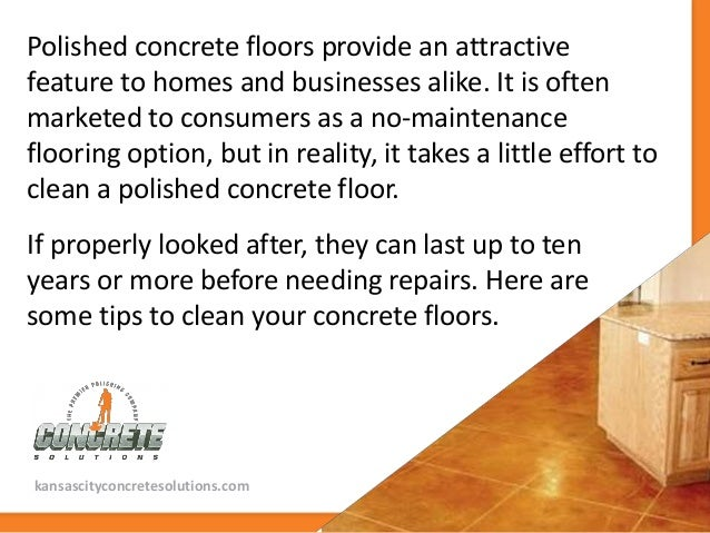 Tips to clean and maintain polished concrete floors for How to clean cement floor
