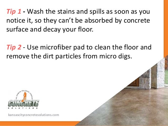 Tips to clean and maintain polished concrete floors for What to use to clean concrete floors